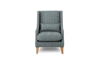 Zigzag Pattern Accent Chair