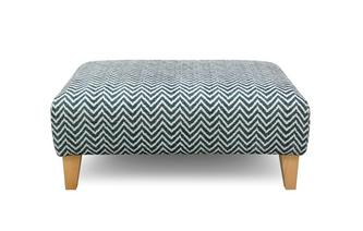Zigzag Pattern Banquette Footstool