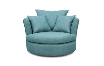 Large Swivel Chair with 2 Plain Scatter Cushions