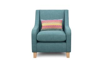 Accent Chair with Pattern Bolster Cushion