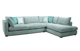Left Hand Facing Arm Large Open End Corner Sofa