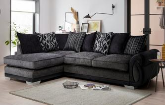 Kamilla Pillow Back Right Hand Facing 3 Seater Open End Corner Sofa Kamilla