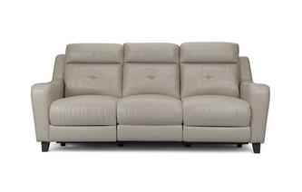Leather 3 Seater Power Recliner Ohio