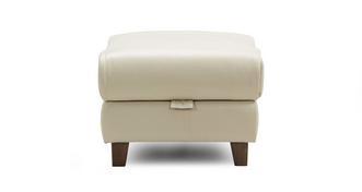 Kansas Leather Storage Footstool