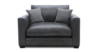 Keaton Leather Snuggler Sofa