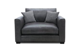 Leather Snuggler Sofa Keaton Leather