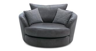 Keaton Leather Large Swivel Chair