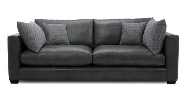 About the Keaton: Leather 4 Seater Sofa