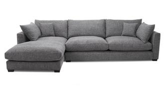 Keaton Weave Left Hand Facing Large Chaise End Sofa