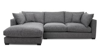 Keaton Weave Left Hand Facing Small Chaise End Sofa
