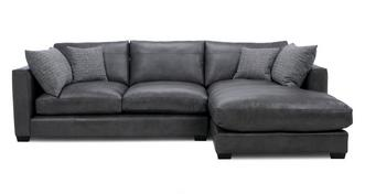 Keaton Leather Right Hand Facing Small Chaise End Sofa