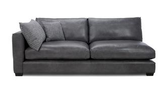 Keaton Leather Left Hand Facing Arm 3 Seat Unit