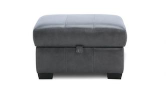 Keaton Leather Small Storage Footstool