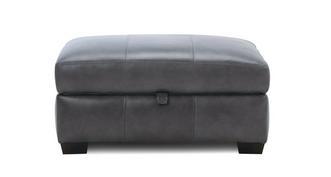 Keaton Leather Large Storage Footstool