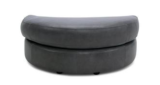 Keaton Leather Half Moon Footstool