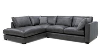Keaton Leather Right Hand Facing Arm Small Open End Corner Sofa