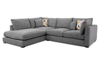 Weave Right Hand Facing Arm Small Open End Corner Sofa