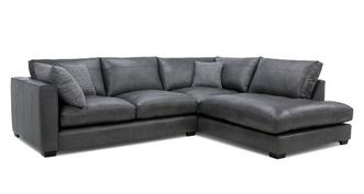 Keaton Leather Left Hand Facing Arm Small Open End Corner Sofa