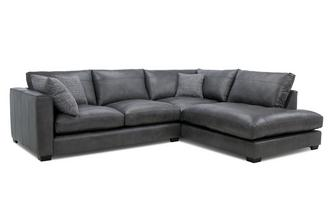 Leather Left Hand Facing Arm Small Open End Corner Sofa Keaton Leather
