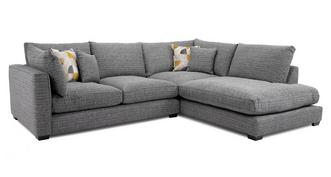 Keaton Weave Left Hand Facing Arm Small Open End Corner Sofa