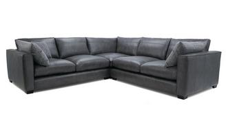 Keaton Leather Small Corner Sofa