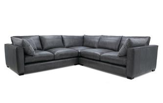 Leather Small Corner Sofa Keaton Leather