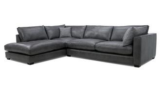 Keaton Leather Right Hand Facing Arm Large Open End Corner Sofa