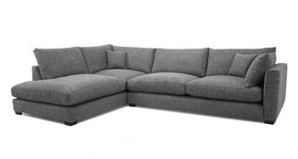 Keaton Weave Right Hand Facing Arm Large Open End Corner Sofa