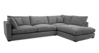 Keaton Weave Left Hand Facing Arm Large Open End Corner Sofa