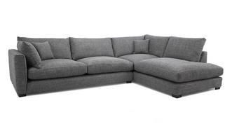 Keaton Weave Left Hand Facing Arm Large Open End Corner Sofa