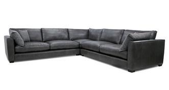 Keaton Leather Large Corner Sofa