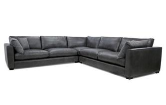 Leather Large Corner Sofa Keaton Leather
