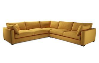 Velvet Large Corner Sofa
