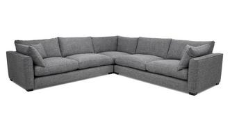 Keaton Weave Large Corner Sofa