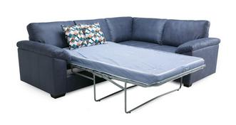 Kenzy Left Hand Facing 2 Seater Deluxe Corner Sofa Bed