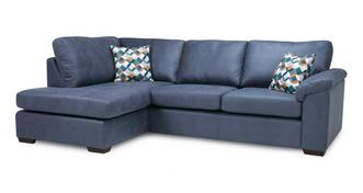 Kenzy Right Hand Facing Arm Open End Deluxe Corner Sofa Bed