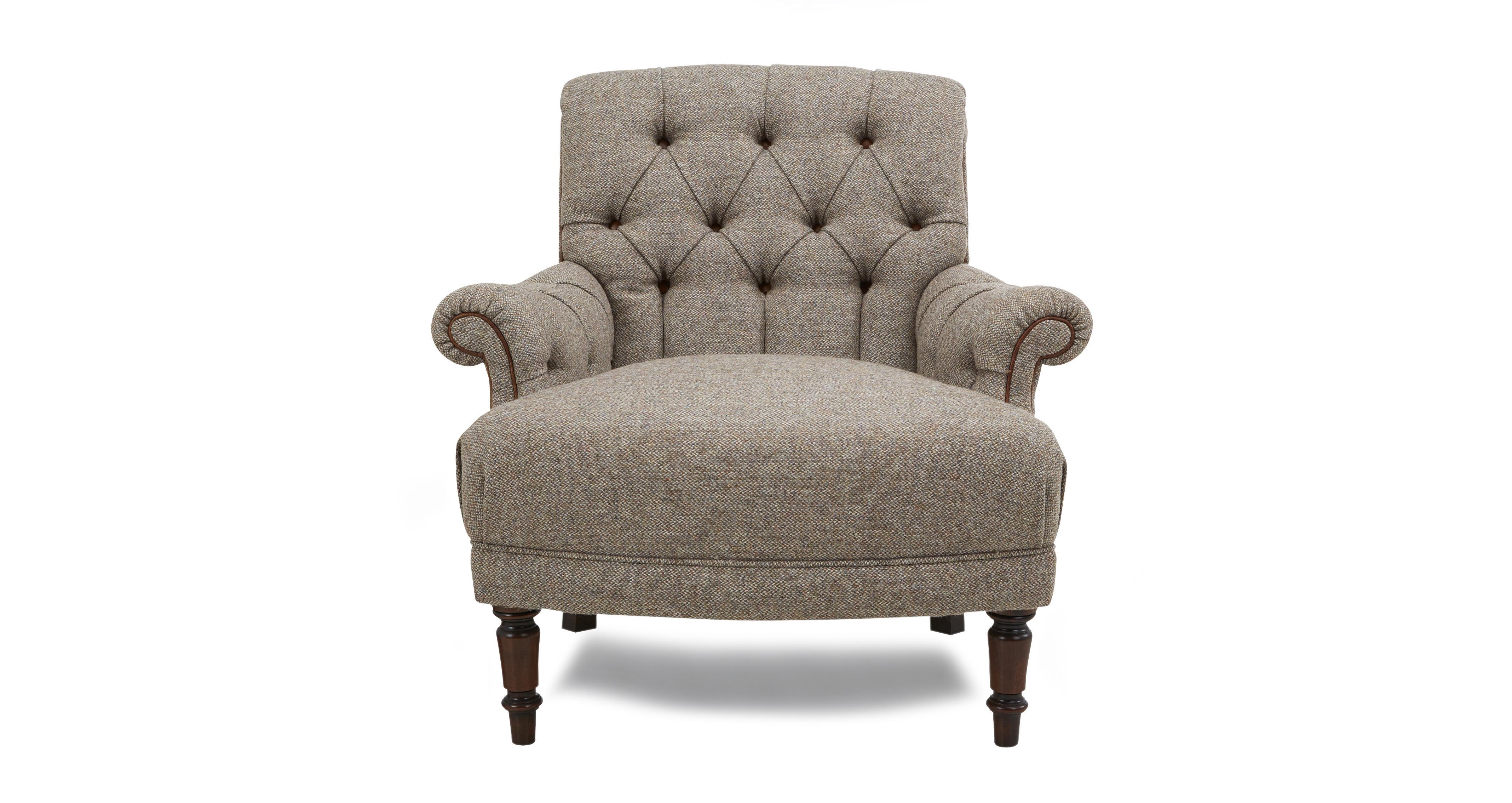 Kintyre Accent Chair Harris Tweed