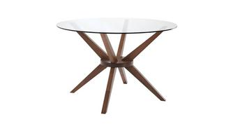 Kitsch Round Glass Dining Table