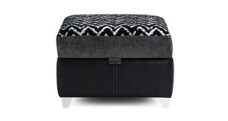 Krypton Pattern Top Storage Footstool