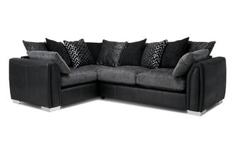 Pillow Back Right Hand Facing 3 Seater Corner Sofa Carrara