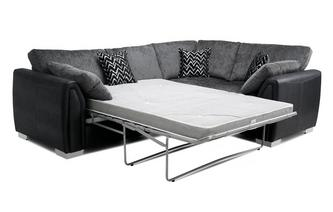 Formal Back Left Hand Facing Corner Deluxe Sofa Bed Carrara