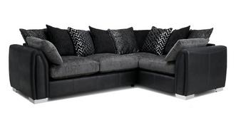 Krypton Pillow Back Left Hand Facing Corner Supreme Sofa Bed