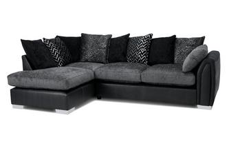 Pillow Back Right Hand Facing Open End Corner Sofa