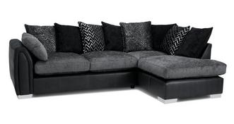 Krypton Pillow Back Left Hand Facing Open End Corner Sofa