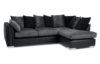 Pillow Back Left Hand Facing Open End Corner Sofa Carrara