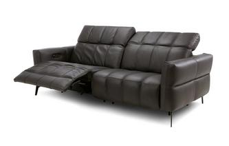 Leather 3 Seater Power Recliner