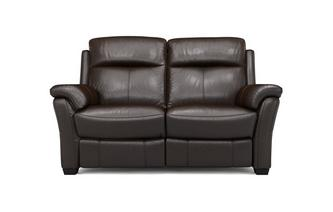 Lainey 2 Seater Manual Recliner Brazil with Leather Look Fabric