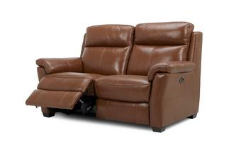 2 Seater Power Recliner Brazil with Leather Look Fabric