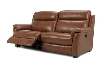 3 Seater Manual Recliner Brazil with Leather Look Fabric