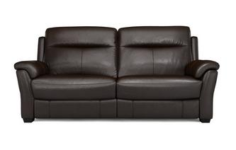 Lainey 3 Seater Manual Recliner Brazil with Leather Look Fabric